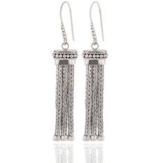 Robert Manse Tassel Dangle Earrings in Sterling Silver