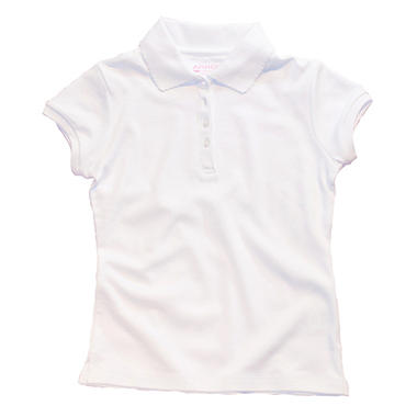 Girls School Uniform Short Sleeve Polo Shirt - Various Colors