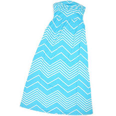 Design History Strapless Chevron Maxi Dress (Assorted Colors)
