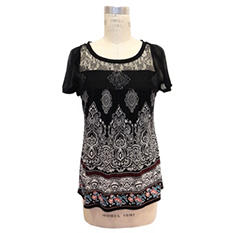 Bila Women's Printed Lace Top (Assorted Colors)
