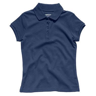 Girls School Uniform Short Sleeve Polo Shirt - Various Colors