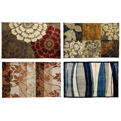 Cashlon Microfiber Accent Rugs - Various Patterns