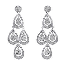 0.50 ct. t.w. Diamond Teardrop Dangle Earrings in 14k White Gold (H-I, I1)