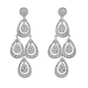0.50 ct. t.w. Diamond Teardrop Dangle Earrings in 14k White Gold (H-I, I1)