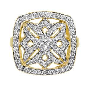 1.00 ct. t.w. Diamond Maze Ring in 14k Yellow Gold (H-I, I1)