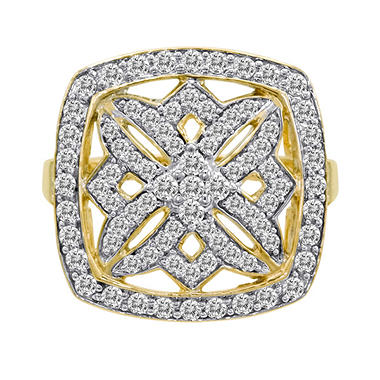 1.00 ct. t.w. Diamond Maze Ring in 14k Yellow Gold (H-I, I1)
