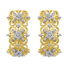 0.50 ct. t.w. Diamond Milgrain Hoop Earrings in 14k Yellow Gold (H-I, I1)