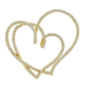 0.75 ct. t.w. Two-Heart Diamond Pendant in 14k White Gold (H-I, I1)