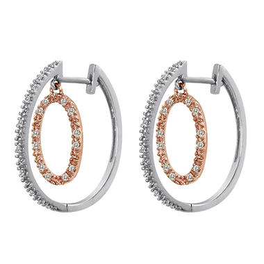 0.20 ct. t.w. Diamond Circles of Life Earrings in 14k Two-tone Gold (H-I, I1)