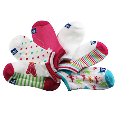 Keds 5 Pair + 1 Bonus Pack Socks - Butterfly