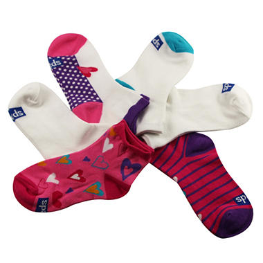 Keds 5 Pair + 1 Bonus Pack Socks - Hearts