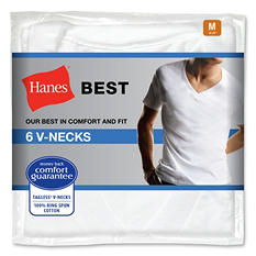 Hanes Best 6-Pack V-Neck T-Shirt