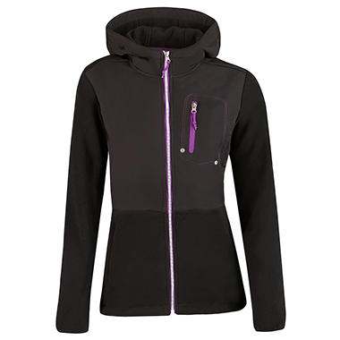 Ladies Fleece Hooded Jacket - Various Colors