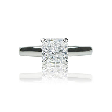 1.02 ct. Radiant-Cut Diamond Ring in Platinum Setting (G, VS2)