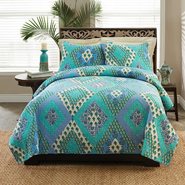 Laura Hart Quilt Set - Queen - 3 pc.