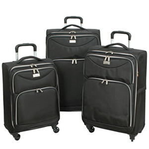 Geoffrey Beene Midnight Collection Ultra Lightweight 3-Piece Luggage Set