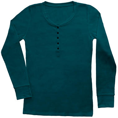 Ladies Thermal Henley Top - Various Colors