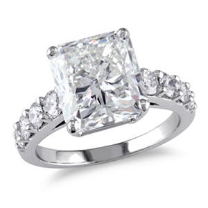 5.75 CT. T.W. Radiant and Round-Cut Diamond Engagement Ring in 18K White Gold H-I,VS2-SI1 (IGI Appraisal Value: $170,765)