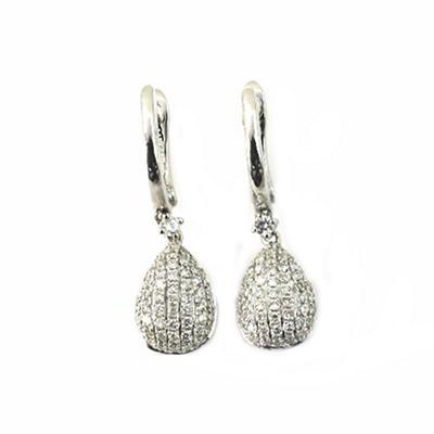 0.45 ct. t.w. Round Diamond Teardrop Dangle Earrings in 14k White Gold (G,SI2)