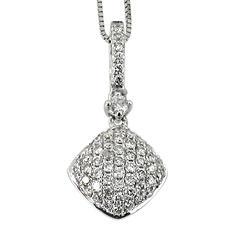 0.25 ct. t.w. Round Diamond Pendant in 14k White Gold (G,SI2)