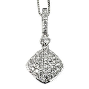 0.25 ct. t.w. Round Diamond Pendant in 14k White Gold (G,SI2)