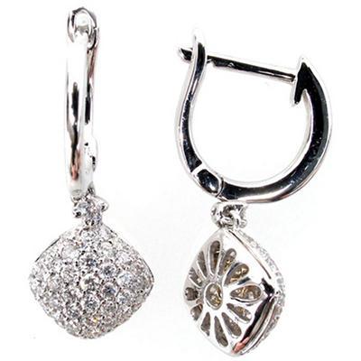 0.40 ct. t.w. Round Diamond Dangle Earrings in 14k White Gold (G,SI2)