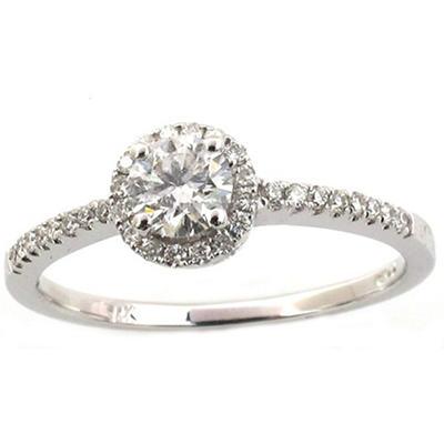0.50 ct. t.w. Round Diamond Ring in 14k White Gold (G,SI1)