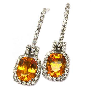 Studio 19 Collection 4.4 ct. t.w. Mandarin Garnet & Diamond Earrings
