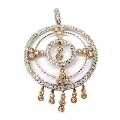 Sonia B. 2.95 ct. t.w. Diamond Medallion Pendant