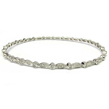 Sonia B. 1.7 ct. t.w. Diamond Station Bangle Bracelet