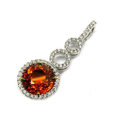 7.95 ct. t.w. Spessartite & Diamond Pendant
