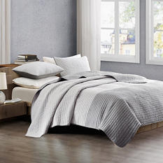Reversible Pick Stitch 3-Piece Coverlet - Various Size and Color Patterns