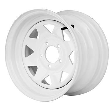 Greenball Spoke Steel Trailer Wheel - 14X5.5 - White