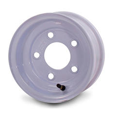 Greenball Stamped Steel Trailer Wheel - 8X3.75 - White
