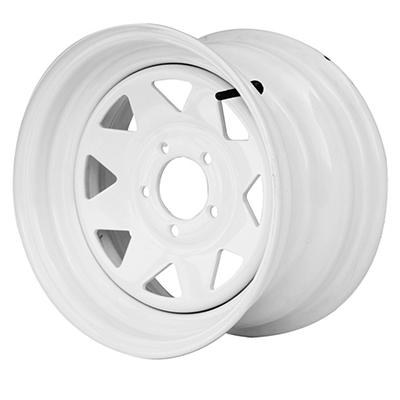 Greenball Spoke Steel Trailer Wheel - 13X4.5 - White