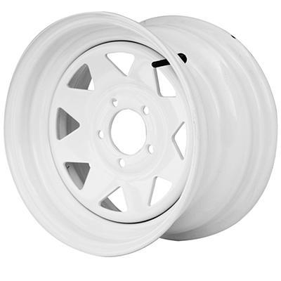 Greenball Spoke Steel Trailer Wheel - 15X6 - White