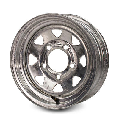 Greenball Spoke Steel Trailer Wheel - 14X6 - Galvanized