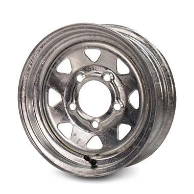 Greenball Spoke Steel Trailer Wheel - 15X6 - Galvanized