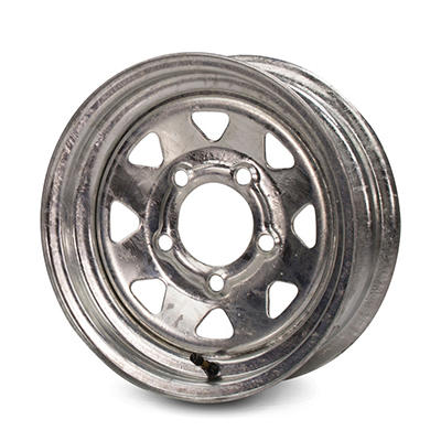 Greenball Spoke Steel Trailer Wheel - 15X6 - Galvanized