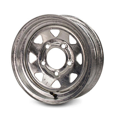 Greenball Spoke Steel Trailer Wheel - 13X4.5 - Galvanized