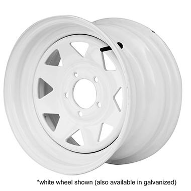 Greenball Spoke Steel Trailer Wheel - 12X4 - Galvanized