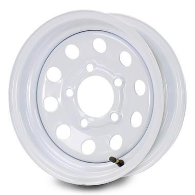 Greenball Modular Steel Trailer Wheel - 14X6 - White