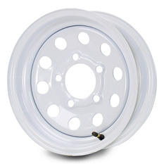 Greenball Modular Steel Trailer Wheel - 15X6 - White