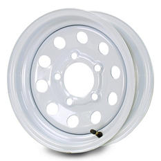 Greenball Modular Steel Trailer Wheel - 15X5 - White