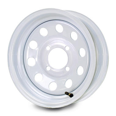 Greenball Modular Steel Trailer Wheel - 12X4 - White