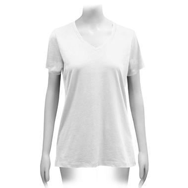 Ladies Short Sleeve V-Neck T-Shirt (Assorted Colors)