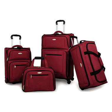 Samsonite 360 Deluxe Luggage Set - Red - 4 pc.