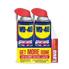 WD-40 11 oz. Twin Pack Smart Straw with Lava Bar