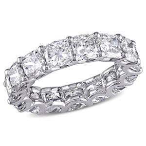 7.75 CT. T.W. Cushion-Cut Diamond Eternity Wedding Ring in 18k White Gold