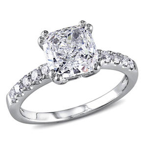 1.75 CT. T.W. Cushion-Cut Diamond Engagement Ring in 14K White Gold